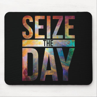 Seize the Day Black Mouse Pad