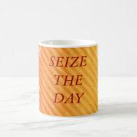 SEIZE THE DAY CLASSIC WHITE COFFEE MUG