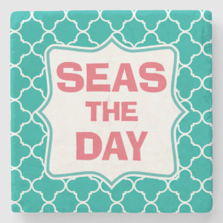 Seize the Day Funny Quote Pattern Coaster