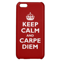 Case Savvy Matte Finish iPhone 5C Case with Keep Calm and Carpe Diem design