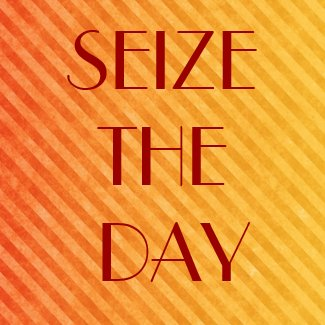 SEIZE THE DAY magnet
