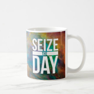Seize the Day Nebula Classic White Coffee Mug
