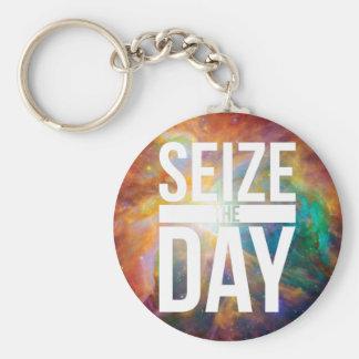 Seize the Day Nebula Keychain
