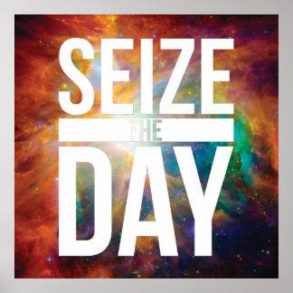 Seize the Day Nebula Poster