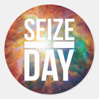 Seize the Day Nebula Sticker