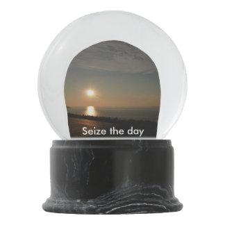 Seize The Day Sunset Snow Globe