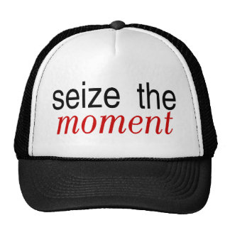 Seize The Moment Red Trucker Hat