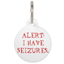 Seizures (Epilepsy) Medical Alert Dog Tag