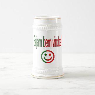 Sejam bem Vindos! Portugal Flag Colors 18 Oz Beer Stein