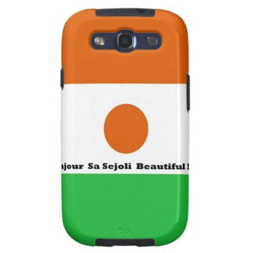 Sejoli Niger.jpg hermoso Bonjour sa Galaxy S3 Carcasas