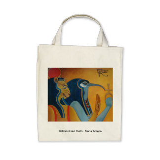Sekhmet and Thoth grocery bag