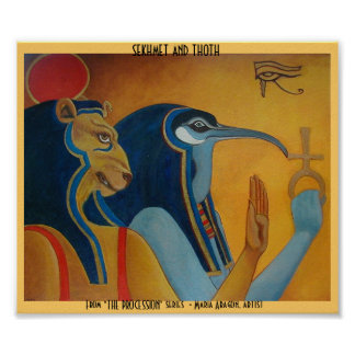 Sekhmet and Thoth Print