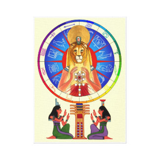 Sekhmet Balances Time Canvas Print