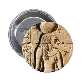 Sekhmet Lioness Hieroglyphic 2 Inch Round Button
