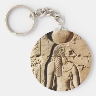 Sekhmet Lioness Hieroglyphic Basic Round Button Keychain