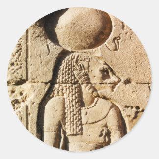 Sekhmet Lioness Hieroglyphic Round Stickers