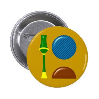 Sekhmet Sachmet hieroglyphics Button