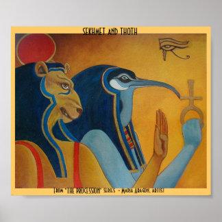 Sekhmet y Thoth Póster