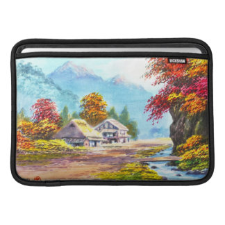 Seki K Country Farm by Stream in Autumn scenery Sleeve For MacBook Air