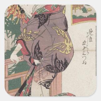 Seki: Shiratama of the Sano-Matsuya Keisai Eisen Square Sticker