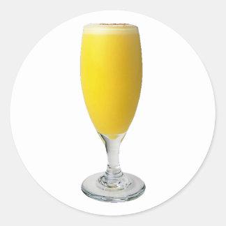 Sekt Orangensaft sparkling wine orange juice Runder Aufkleber