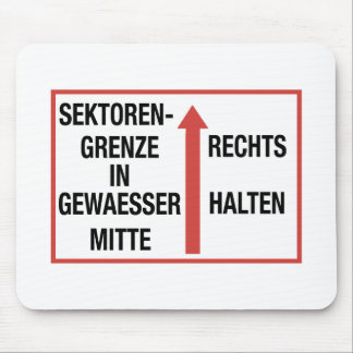 Sektorengrenze, Berlin Wall, Germany Sign Mouse Pad
