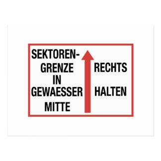 Sektorengrenze, Berlin Wall, Germany Sign Postcard