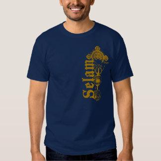 Selam - hola - en oro remeras