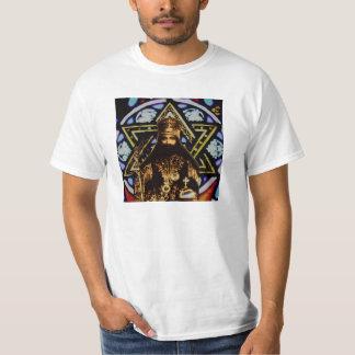 Selassie Star of David Background T-Shirt