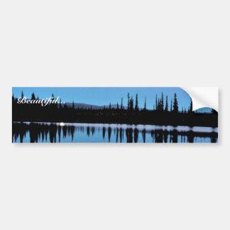 Selawik Moonscape Over Water Car Bumper Sticker