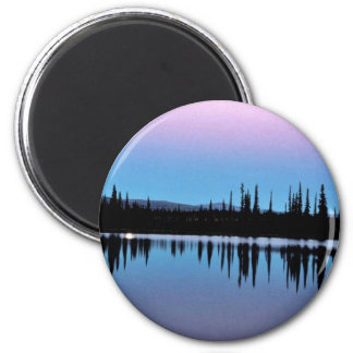 Selawik Moonscape Over Water Magnet