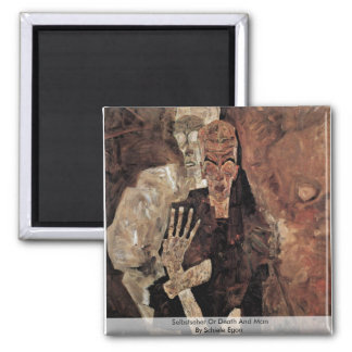 Selbstseher Or Death And Man By Schiele Egon Magnets