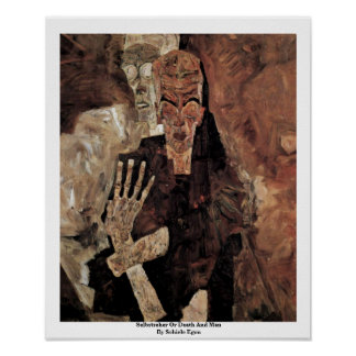 Selbstseher Or Death And Man By Schiele Egon Poster