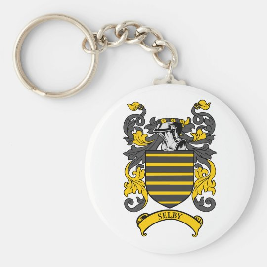 SELBY Coat of Arms Keychain