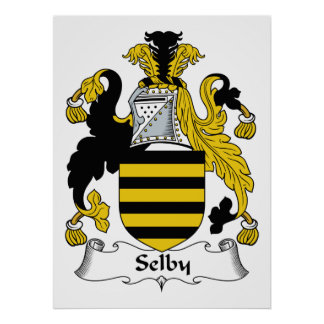 Selby Family Crest Poster