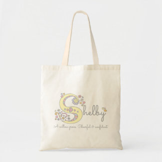 Selby name meaning personalized library bag