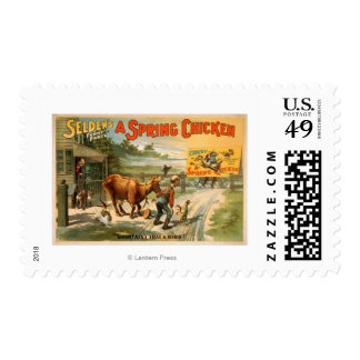 Selden's Funny Farce, A Spring Chicken Play Postage