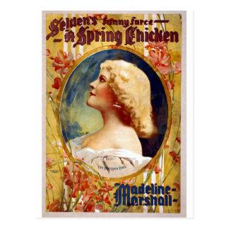 Selden's Funny Farce A Spring Chicken Postcard
