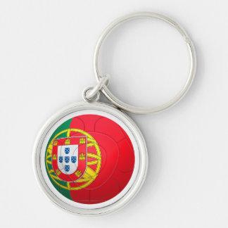 Selecção das Quinas - fútbol de Portugal Llavero Redondo Plateado