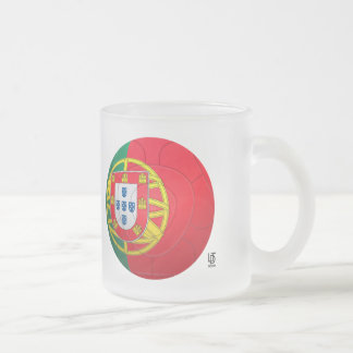 Selecção das Quinas - Portugal Football Frosted Glass Coffee Mug