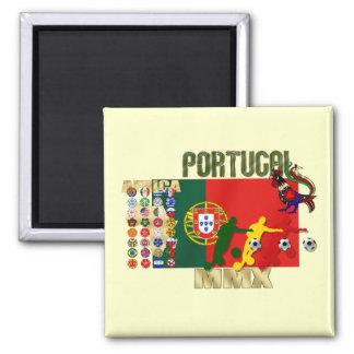 Selecção Portuguesa - 32 Paises Futebol Arte Imán Cuadrado