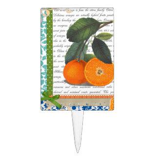 Selección anaranjada de la torta de la fruta de la figuras de tarta