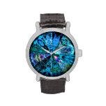 Selección azul de la mandala relojes