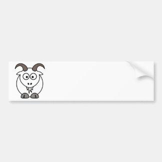 Selección blanca de la cabra pegatina para auto