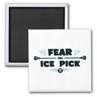 Selección de hielo - azul imán cuadrado
