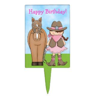 Selección de la torta de cumpleaños de la vaquera  decoración para tarta