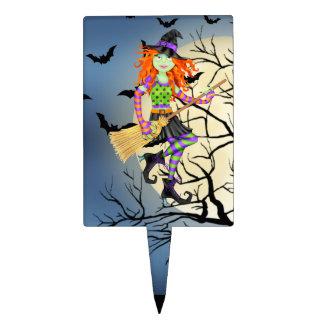 Selección de la torta de la bruja de Halloween Roc Figura Para Tarta