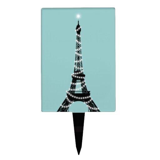 Selección de la torta de la torre Eiffel del cente Decoración De Tarta
