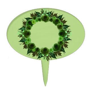 Selección de la torta de las flores del verde de decoración de tarta