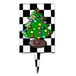 Selección de la torta del árbol de navidad figuras de tarta